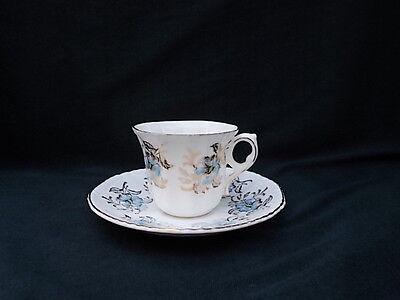 Royal Grafton Fine Bone China Blue & Gold Demitassse Cup & Saucer