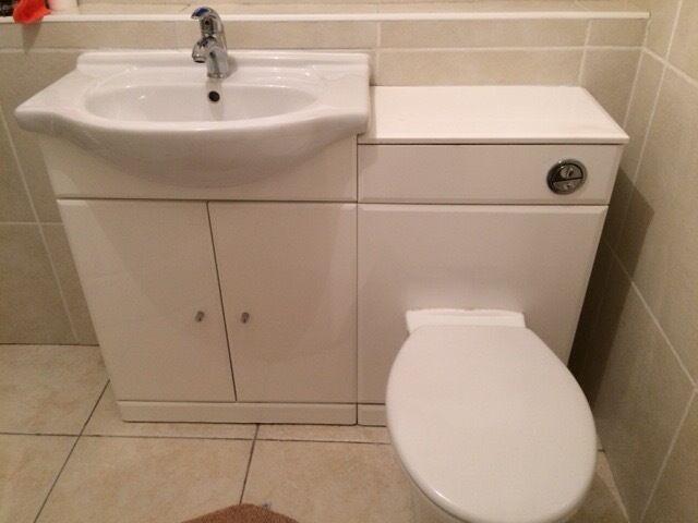 Bathroom Sinks Glasgow bathroom sink with built in cupboard. | in cumbernauld, glasgow
