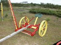 Antique horse drawn sickle mower