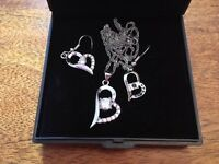 Clear Crystal Earrings and Necklace Set