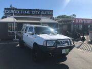 2011 Nissan Navara D22 SERIES II ST-R White Manual Dual Cab Morayfield Caboolture Area Preview