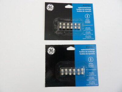 Lot Of 2 Packs Of 6 Ge 1055827 Replacement Fuses 3 Amp 125v General Electric