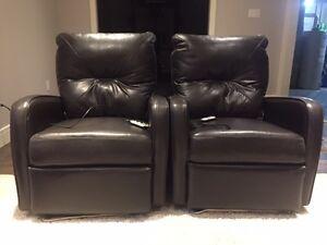 2 Palliser Full Leather Power Recliner Chairs