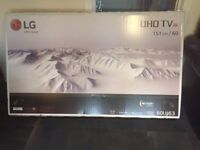 "Brand new in box 60"" lg 4K uhd HDR smart tv"