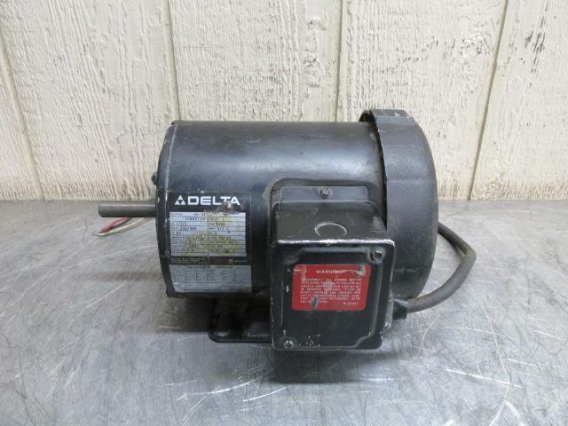 Delta 66-041 Electric Motor 1-1/2 HP 230/460 Volt 3450 RPM 3 PH