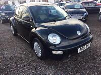 2001 VOLKSWAGEN BEETLE 2.0 BLACK WITH CREAM HEATED LEATHER INTERIOR