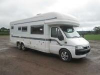 2006 AUTOTRAIL CHIEFTAIN 4 BERTH FIXED END BED, REAR GARAGE MOTORHOME FOR SALE