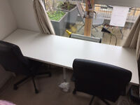 Large Office Desk with 2 Office Chairs