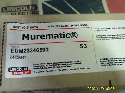 Lincoln Murematic Er70s-3 Welding Wire .035 0.09mm Copper Coating 44 Spool