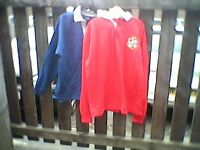 Royal Blue/Red Traditional Rugby Shirts 3XL. Red With 'Lions Badge-Rare!