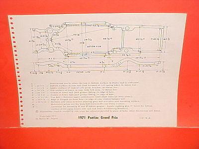 1971 Pontiac Grand Prix Lemans Gt 37 Gto Convertible Coupe Frame Dimension Chart