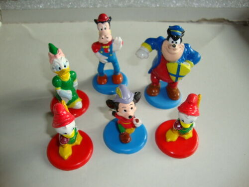 Vintage Disney Figures Mickey Mouse Donald Duck Cake Toppers toys chess pieces