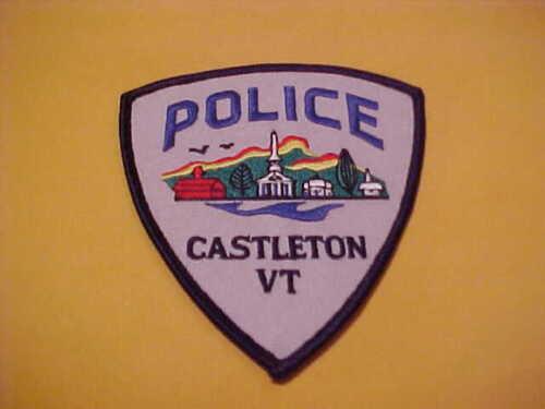 CASTLETON VERMONT POLICE PATCH SHOULDER SIZE UNUSED