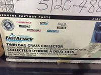 Twin Bag Fast-Attach Grass Collector for Riding Lawn Mower