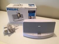 Philips AD333/05 Speaker Dock Docking Station System for iPod & iPhone - White