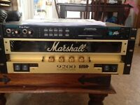 Marshall amp and Peavey pre-amp