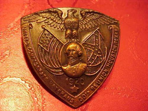 U.C.V. UNITED CONFEDERATE C.S.A. VETERANS 1920 30 TH REUNION HOUSTON TEXAS PIN