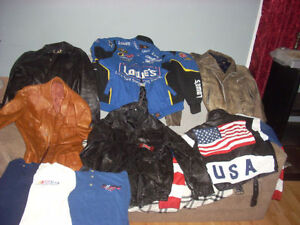 LEATHER coats jackets sports teams harley vests and Bball caps Windsor Region Ontario image 2
