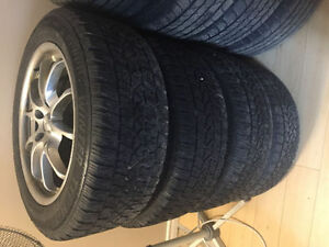 225/55/17 winter tires alloy rims