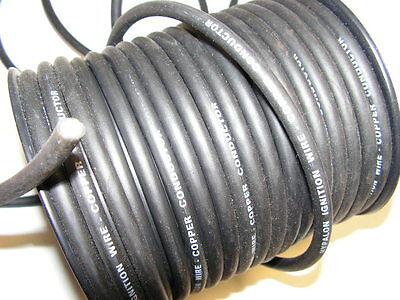 (Meterpreis 2,25,- €) Zündkabel Hochspannungskabel Hypalonhülle schwarz 7 mm