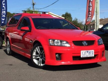 2009 Holden Ute Red Sports Automatic Utility