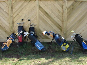 Junior golf club sets by age group size RH and LH