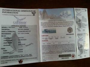 Canadian Diamond engagement ring. Gatineau Ottawa / Gatineau Area image 3