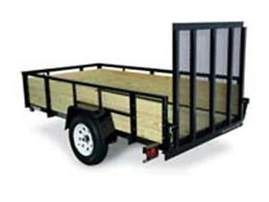 Wooden high side 6X12 Trailer