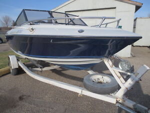 Aquaster 16ft with 140hp Evinrude outboard and trailer