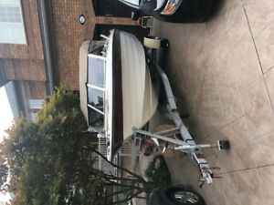 19'  Fishing  boat trailer and motors