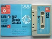 VERY RARE BASF LH C120 OLYMPIA CASSETTE TAPE CELEBRATING THE MUNICH OLYMPICS 1972. NO OTHERS ONLINE.