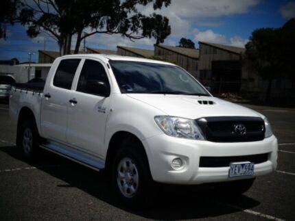 2010 Toyota Hilux KUN26R MY11 Upgrade SR (4x4) White 4 Speed Automatic