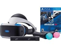 PlayStation VR 2 with new camera 2 motion controllers and drive club game