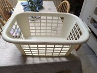 Clothes Horse, Wine Rack, Laundry Basket & upright dustpan & brush for sale