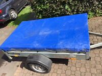 Used Brenderup 1205S Trailer with cover and Ladder Rack