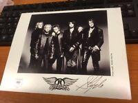 "a personally signed photo AEROSMITH Steve Tyler black & white 8"" x 10"""
