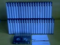 TDK D C90 CASSETTE TAPES x 40 : USED ONCE ONLY THEN STORED