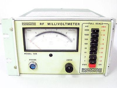 Boonton 92b Rf Millivoltmeter Voltmeter Programmable 10 Khz - 1.2 Ghz