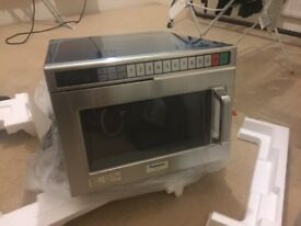 New & unused Panasonic NE 1853 commercial microwave oven. Built to last.