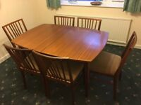 Beautifully designed & crafted Dining Table and 6 Chairs by VANSON circa 1950-60