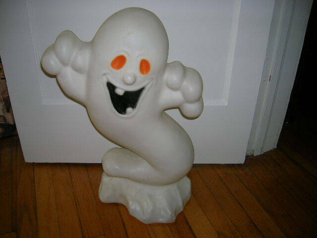"""VINTAGE 24"""" LIGHTED EMPIRE GHOST BLOW MOLD WITH CORD"""