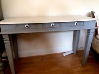 Grey and white vintage style console table