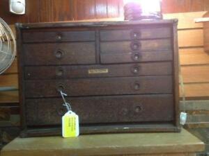ancien coffre antique de machiniste en bois de Rochester NY