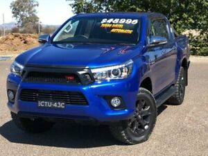 2017 Toyota Hilux GUN126R SR5 Double Cab Blue 6 Speed Sports Automatic Utility Hillvue Tamworth City Preview