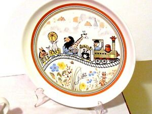 1980s retired Denby Safari Stoneware Child's Plate & Bowl