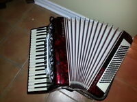 ACCORDION full size 120 BASS,  7 registers