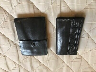 Pair of Black Leather Key Ring Wallets / Coin Purses  for sale  Shipping to South Africa