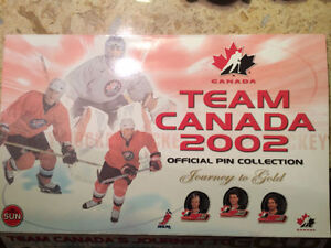 Collector's Pin Collection - Team Canada 2002 Olympic Hockey