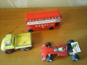 Corgi Surtees Racing Car, Bus and Unimog Truck Toys