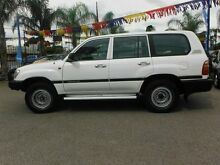 2000 Toyota Landcruiser HZJ105R (4x4) White 5 Speed Manual 4x4 Wagon Hillcrest Port Adelaide Area Preview